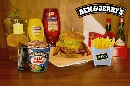 Combo R$ 35: Burger Toronto + Drink de Chá Lipton + Batata McCain + Sorvete Ben & Jerry's 458ml