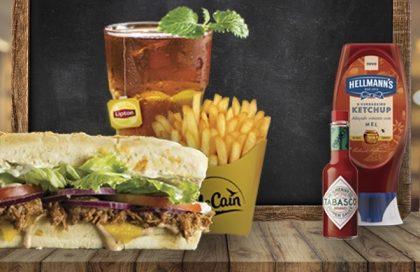 Combo R$ 25: Qualquer sanduíche + Batata McCain + Drink de Chá Lipton (500ml)