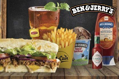 Combo R$ 35: Qualquer sanduíche + Batata McCain + Drink de Chá Lipton (500ml) + Sorvete Ben & Jerry's 458ml (473ml)