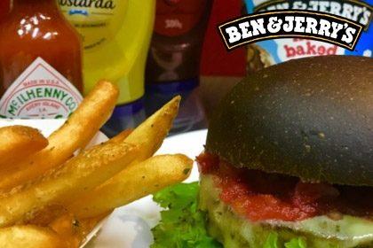 Combo R$ 35: Burger Mr. Veggie + Drink de Chá Lipton + Batata McCain + Sorvete Ben & Jerry's 458ml