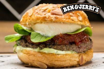 Combo R$ 35: Burger K.F.T + Drink de Chá Lipton + Batata McCain + Sorvete Ben & Jerry's 458ml