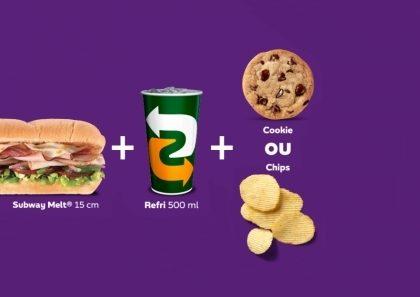 Shopping Butantã: COMBO MELT (Sanduíche Subway Melt® 15cm + Refri Lata + Cookie ou Chips)