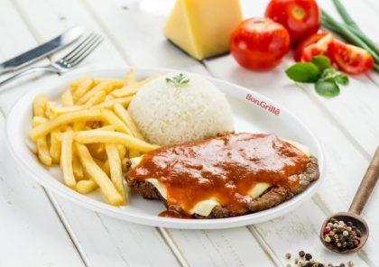 Parmegiana de Carne com arroz branco e fritas por apenas R$ 25,90! (MorumbiShopping)