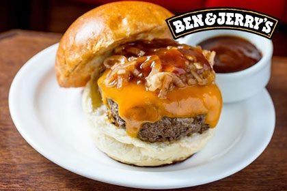 Combo R$ 35: Burrata ou Daniel's Burger + Drink de Chá Lipton + Batata McCain + Sorvete Ben & Jerry's 458ml