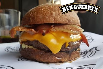 Combo R$ 35: Qualquer Burger + Drink de Chá Lipton + Batata McCain + Sorvete Ben & Jerry's 458ml