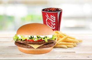 Combo Duplo X Salada (Lanche + Batata + Refri) por R$ 14,90