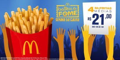 4 McFritas M R$21,00 - Bateu a Fome