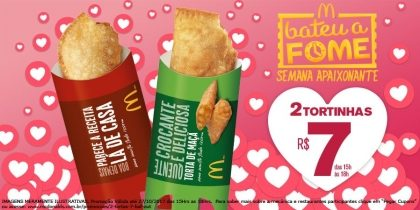 2 Tortas R$7,00 - Bateu a Fome
