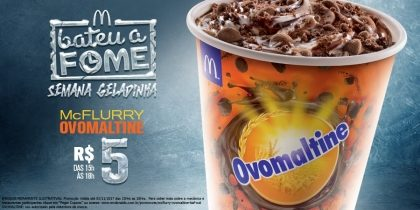 McFlurry Ovomaltine R$5 – Bateu a Fome