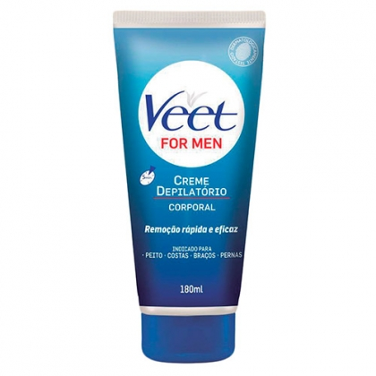 Pague 2, Leve 3 – Creme Depilatório Corporal Veet For Men 180ml