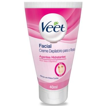Pague 2, Leve 3 – Creme Depilatório Facial Veet Pele Delicada 40ml
