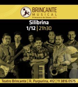 Compre 1 ingresso e ganhe outro para seu convidado para o show da Banda Silibrina