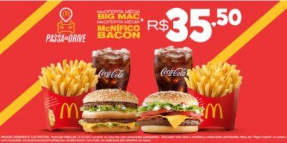 McOferta McNífico Bacon + McOferta Big Mac R$35,50