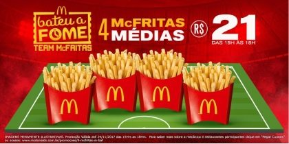 4 McFritas Média R$21,00 - Bateu a Fome