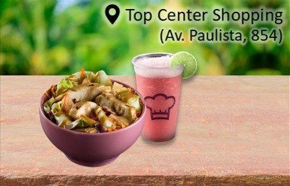Salada Azuma + Pink Lemonade por R$ 18,90