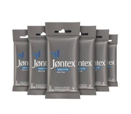 Kit Preservativo Jontex Sensitive Leve 6, Pague 3