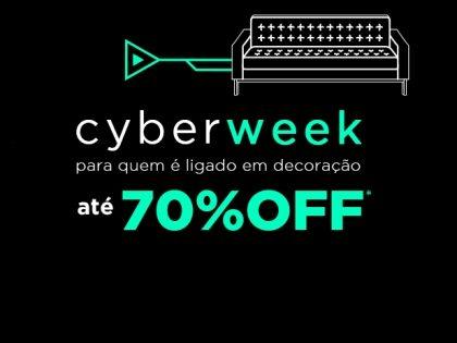 Cyber Week: produtos de decoração com até 70% de desconto!
