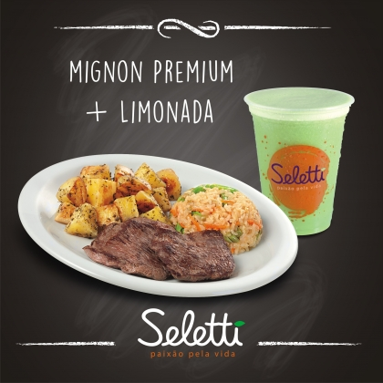 BLACK FRIDAY: Combo Mignon Premium (Filé Mignon + 2 acompanhamentos + Limonada)