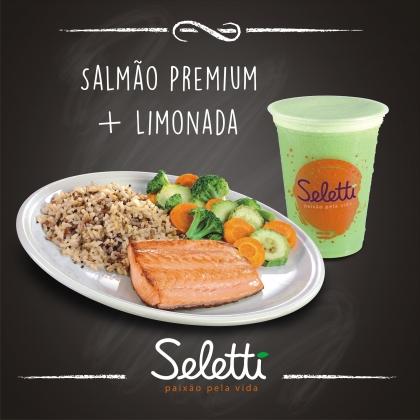 BLACK FRIDAY: Combo Salmão Premium (Salmão grelhado + 2 acompanhamentos + Limonada)