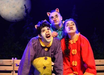 """Espetáculo """"Os Três Porquinhos"""" com 50% de desconto!"""