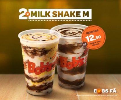 2 Milk Shakes M por R$12,50