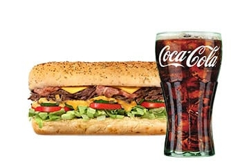 Sub Beef Bacon Chipotle (15cm) + Refri 300ml por R$20,00