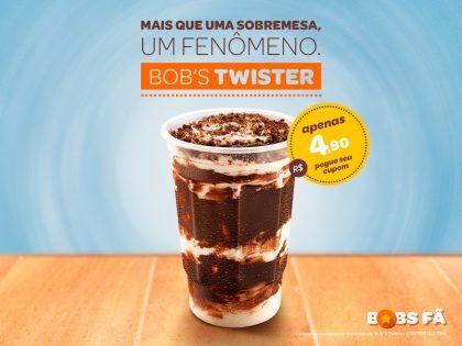 Bob's Twister por apenas R$4,90