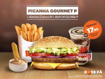 Picanha Gourmet P + Batata Canoa M + Refrigerante M ou Milk Shake P por R$17,90