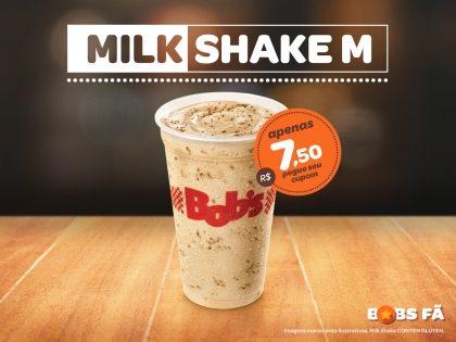 Milk Shake M por apenas R$7,50