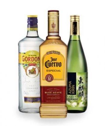 30% de desconto: Todos os Gins, Saquês e Tequilas [18+]