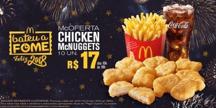 McOferta Chicken McNuggets 10 unidades R$17,00