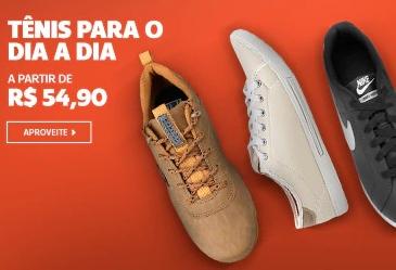 Tênis a partir de R$54,90 no site da Netshoes!