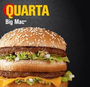 Quarta: Big Mac® por R$ 8,00