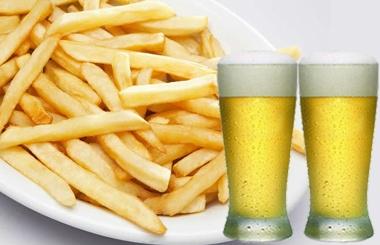 2 Cervejas (Original ou Skol, 600ml) + Porção de Batata Frita por apenas R$ 29,40!