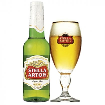Cerveja Stella Artois super gelada no Arabin com 40% [18+]