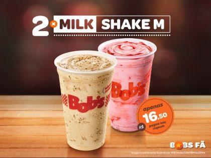 2 Milk Shakes M por R$16,50