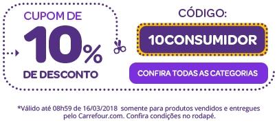 Dia do Consumidor: Cupom de 10% de desconto em produtos selecionados no site!