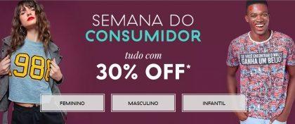 Semana do Consumidor até 30% OFF + Cupom de 10% OFF no site da C&A!