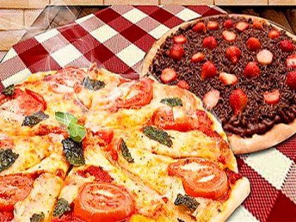 Delivery e balcão: 2 pizzas + 1 broto de brigadeiro + refrigerante