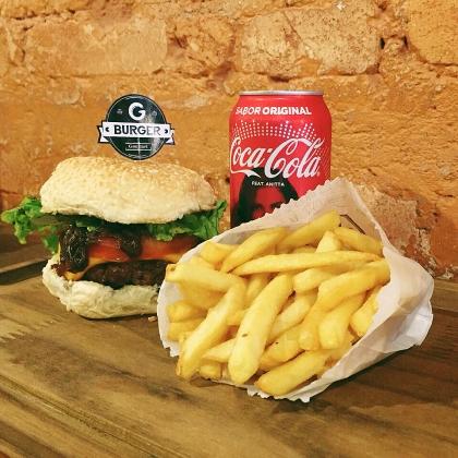 Burger Bovino + Refrigerante + Batata 130g por apenas R$ 29,00