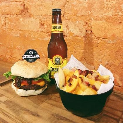 Burger Bovino + Cerveja Pilsen Long Neck + Batata Rústica por apenas R$ 35,00 [+18]