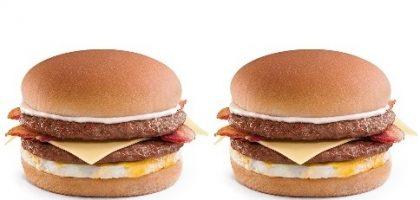 2 Sanduíches Duplo X-Burguer Bacon com Ovo por R$ 14,90