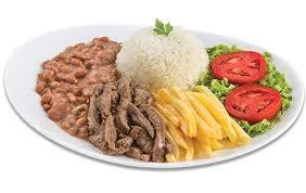 Top Center: Isca de Carne + Arroz + Feijão + Fritas ou Purê + Salada + Refri  por R$ 16,90
