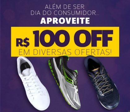 Cupom de R$100 OFF no Dia do Consumidor Netshoes!