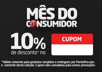 Mês do consumidor Ponto Frio: Até 60% OFF + Cupom de 10% OFF