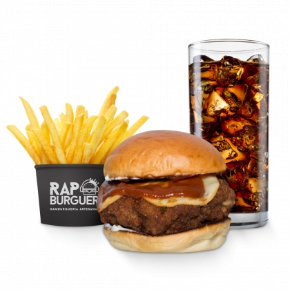 Combo Tradicional (Burger Tássia Reis + Refrigerante + Batata individual) por R$ 27,52