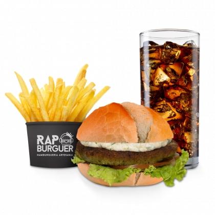 Combo Vegetariano (Burger KL Jay + Refrigerante + Batata Individual) por R$ 28,72