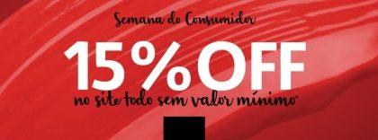 Semana do Consumidor até 15% OFF em todo o site da Sephora!
