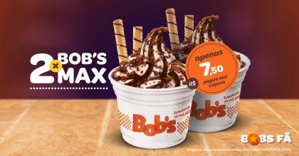 2 Bob's Max por R$7,50