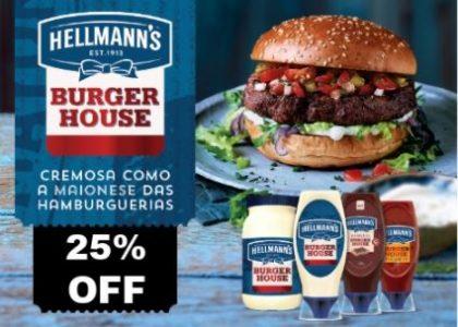 25% OFF: Maionese Hellmann's Burger House 315g + Ketchup Hellmann's 380g